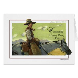 Cartão da semana da poesia do vaqueiro