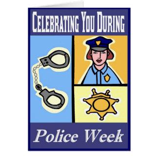 Cartão da semana da polícia