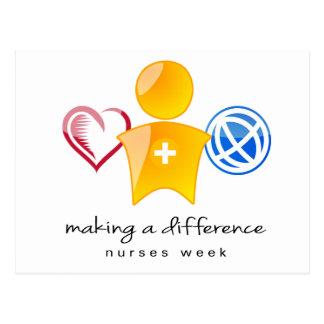 Cartão da semana das enfermeiras