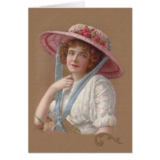 Cartão da senhora uso geral do Victorian