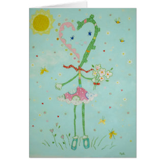 Cartão da senhorita Namorados