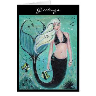 Cartão Cartão da sereia da arte da fantasia por Renee