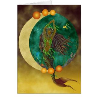 Cartão da sereia da meia lua