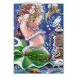 Cartão da sereia do tempo do Vestido-acima