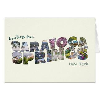 Cartão da série 02 de Saratoga Springs