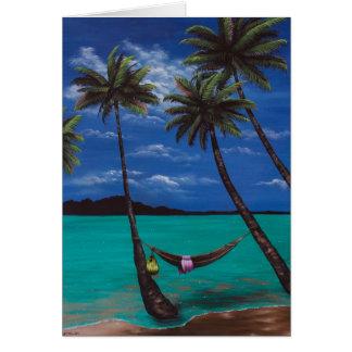 Cartão da sesta da praia