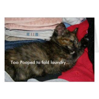 Cartão da sesta do gato
