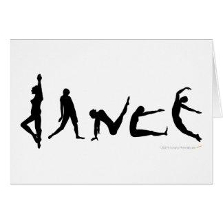 Cartão da silhueta da dança da dança