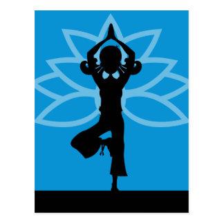 Cartão da silhueta da ioga