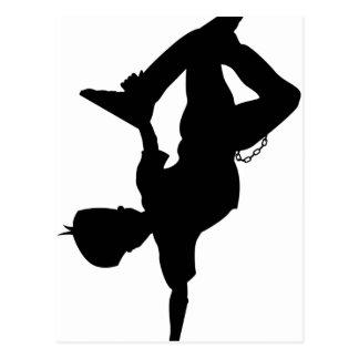 Cartão da silhueta do dançarino da ruptura do