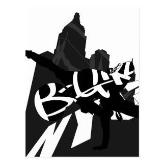 Cartão da silhueta do dançarino NYC da ruptura da