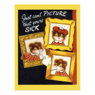 Cartão da simpatia do vintage