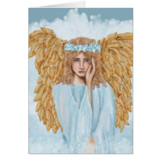Cartão da simpatia e dos pêsames com anjo