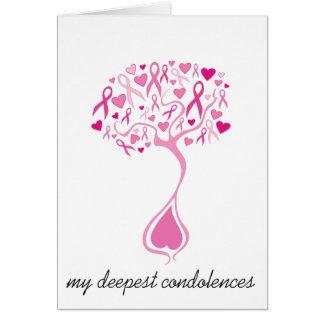 Cartão da simpatia falecimento para o cancro da ma