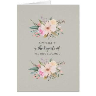 Cartão da simplicidade