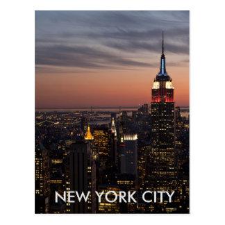 Cartão da skyline da Nova Iorque