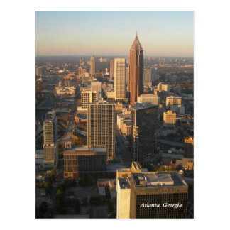 Cartão da skyline de Atlanta Geórgia