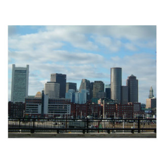 Cartão da skyline de Boston