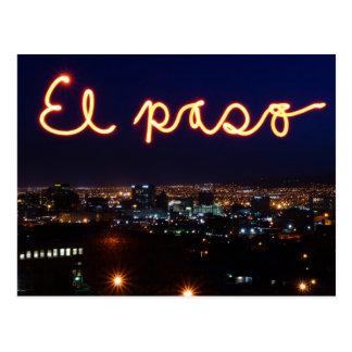 Cartão da skyline de El Paso