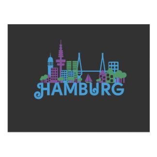 Cartão da skyline de Hamburgo