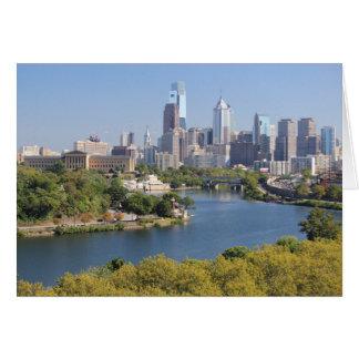Cartão da skyline de Philadelphfia