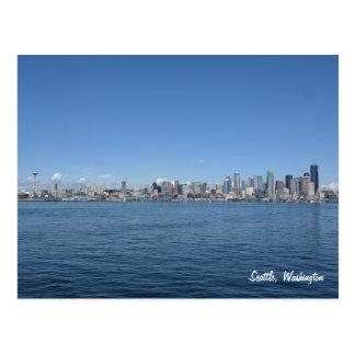 Cartão da skyline de Seattle Washington