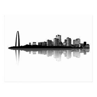 Cartão da skyline de St Louis (b/w)