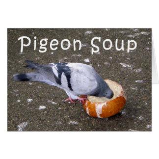 cartão da sopa do pombo