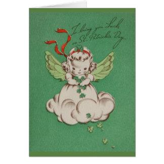 Cartão da sorte do anjo do dia de St Patrick do