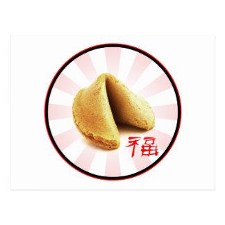 """Cartão da """"sorte"""" do biscoito de fortuna"""