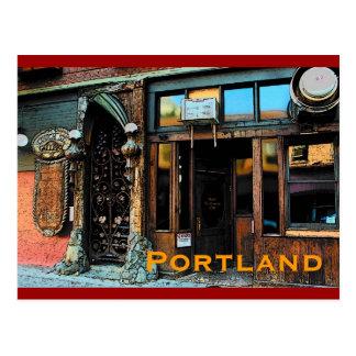 Cartão da taberna de Portland