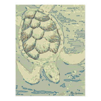 Cartão da tartaruga do fantasma