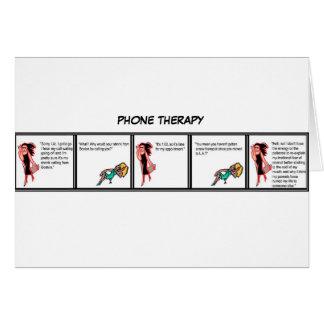Cartão da terapia do telefone