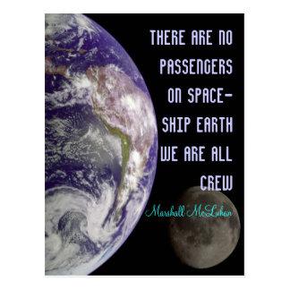 cartão da terra da nave espacial