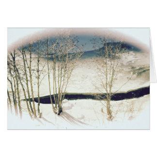 Cartão da Todo-Ocasião de Scape do inverno