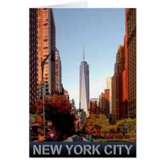 Cartão da torre da Nova Iorque