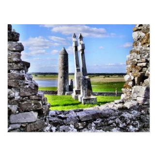 Cartão da torre de Clonmacnoise