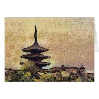 Cartão da torre de Toji