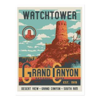 Cartão da torre de vigia do parque nacional do