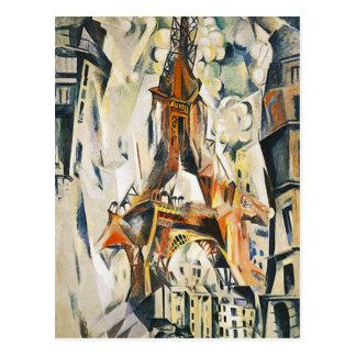 Cartão da torre Eiffel de Robert Delaunay