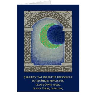 Cartão da tríade do silêncio