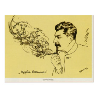 Cartão da tubulação de Stalin Cartão Postal