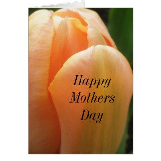 Cartão da tulipa do feliz dia das mães