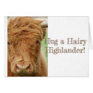 Cartão da vaca das montanhas