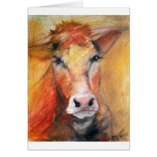 Cartão da vaca de Limousin