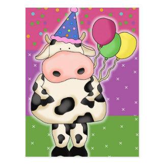 Cartão da vaca do aniversário