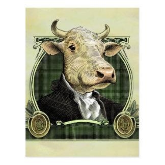 Cartão da vaca do dólar
