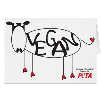 Cartão da vaca do Vegan