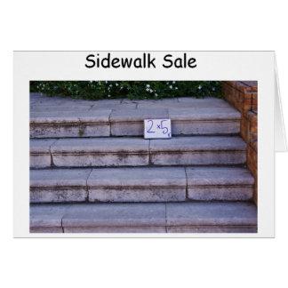 Cartão da venda do passeio