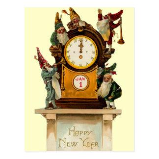 Cartão da véspera de ano novo do vintage